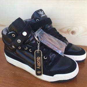 Originals Black Leather Hi Top Skate Quality crepe
